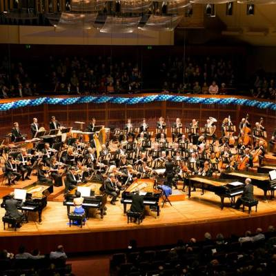 Liszt's Hexameron, conducted by Teddy Abrams, with Yuja Wang, Marc-André Hamelin, Emanuel Ax- Official Page, Jeremy Denk, and Jean-Yves Thibaudet. Moanalani Jeffrey Photography