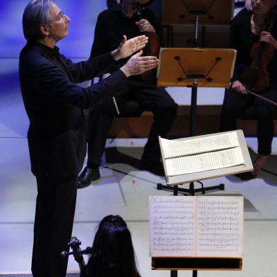 14. Michael Tilson Thomas conducts 'The Seasons' in the New World Symphony's John Cage festival - photo by Rui Dias-Aidos