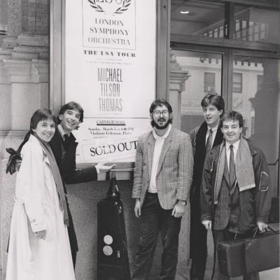 1989 MTT and members of LSO, Carnegie Hall