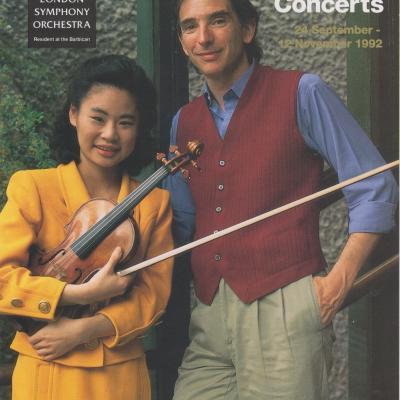 1992 LSO Autumn concerts leaflet