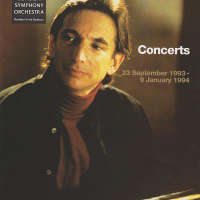 1993 LSO Autumn concerts leaflet