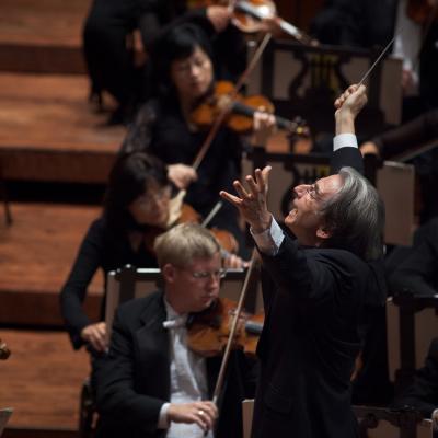 Michael Tilson Thomas and the SF Symphony by Bill Swerbenski