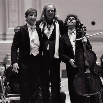 MTT John Tavener Steven Isserlis by Steve Sherman 1989