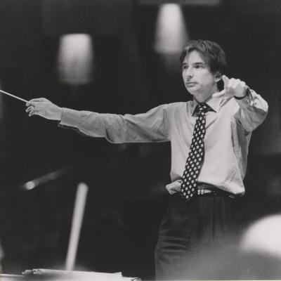 MTT LSO rehearsal Barbican 1990s, Photo Jacqueline Wyatt