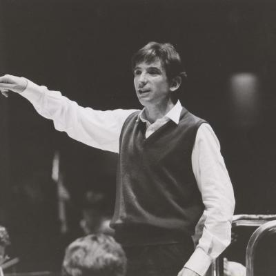 MTT LSO rehearsal Barbican 1990s, Photo Robert Hill