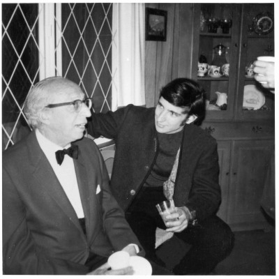 With Aaron Copland at Tanglewood, 1972
